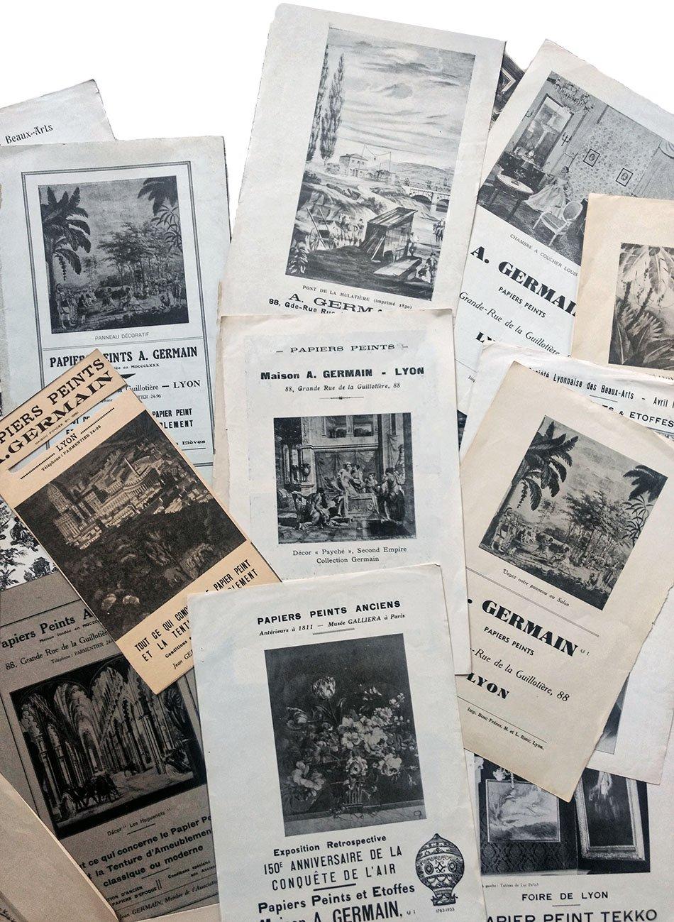 Publicités papiers peints